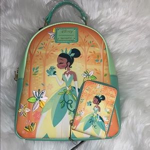 Loungefly Tiana Princess &The frog backpack/wallet
